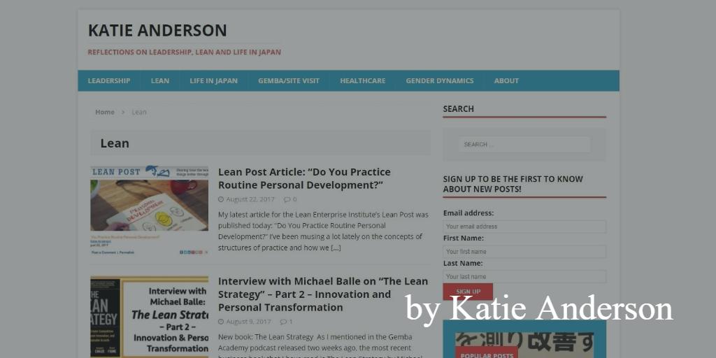 Lean blog - katie anderson