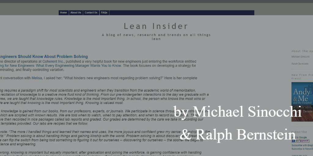 Lean blog - Lean insider