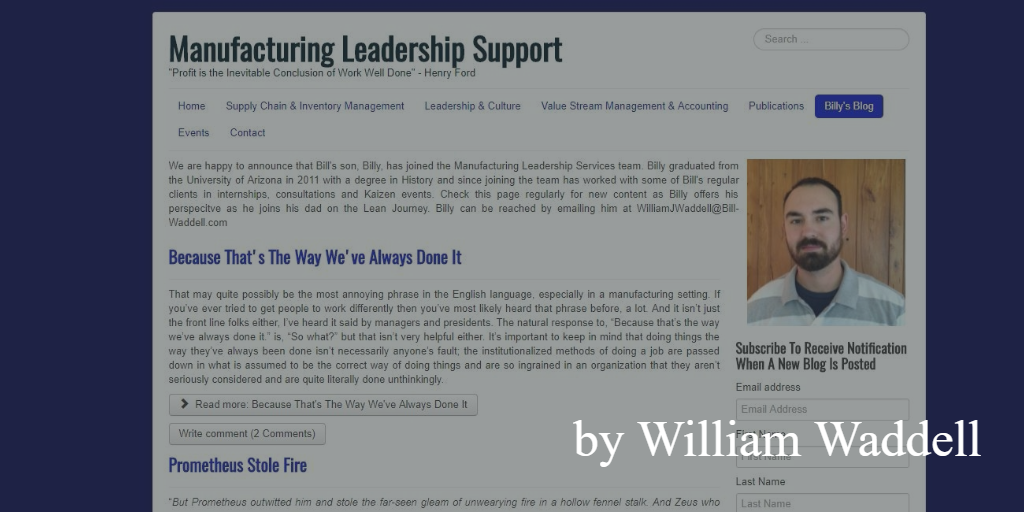 Lean blog - bill waddell