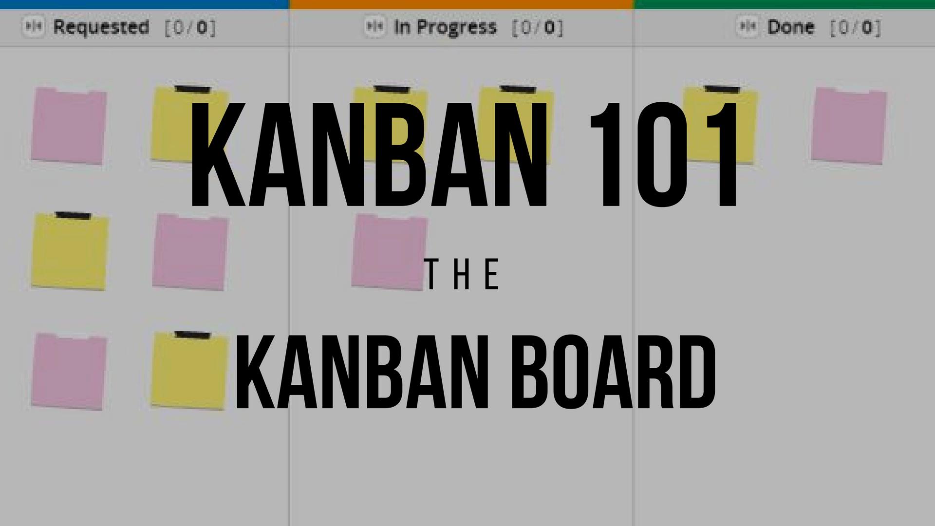 Kanban 101 - Kanban Board