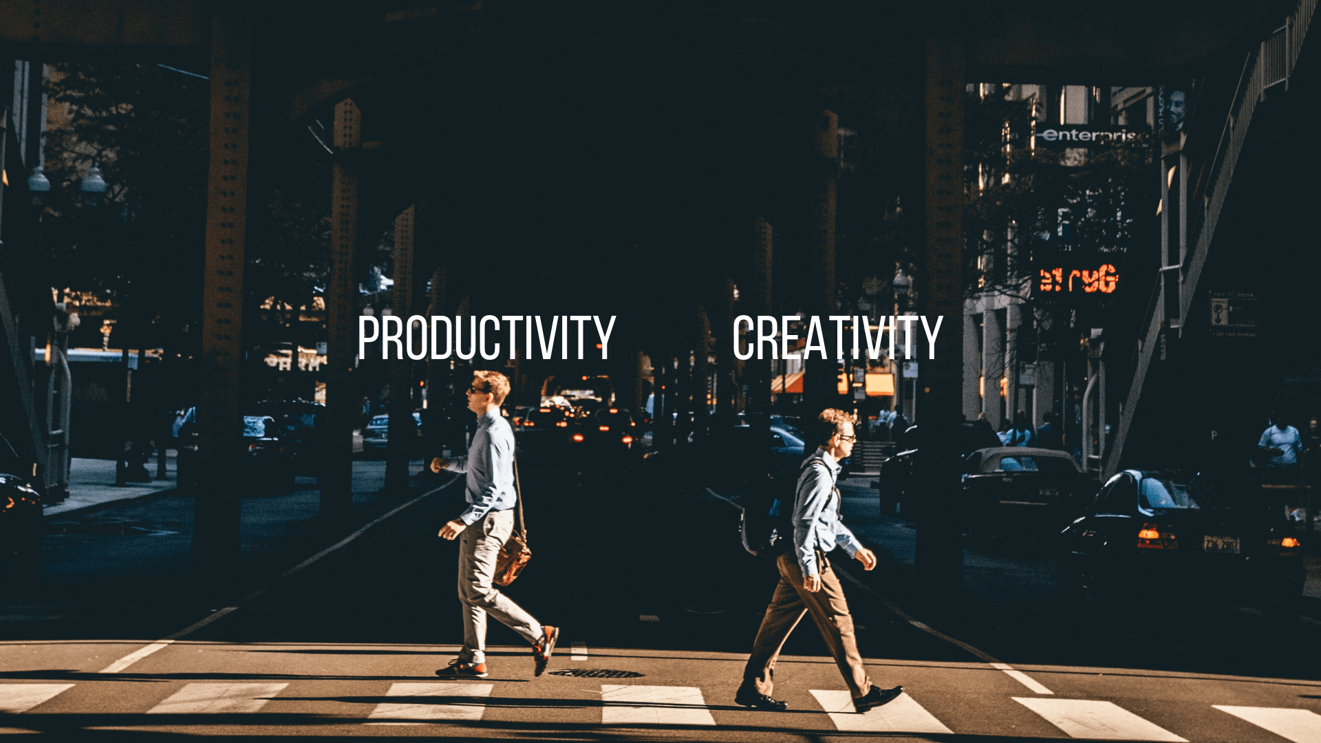 People believe that productivity and creativity are fundamentally different.