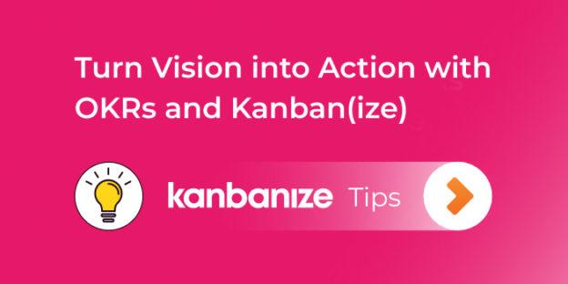 map okrs with kanban