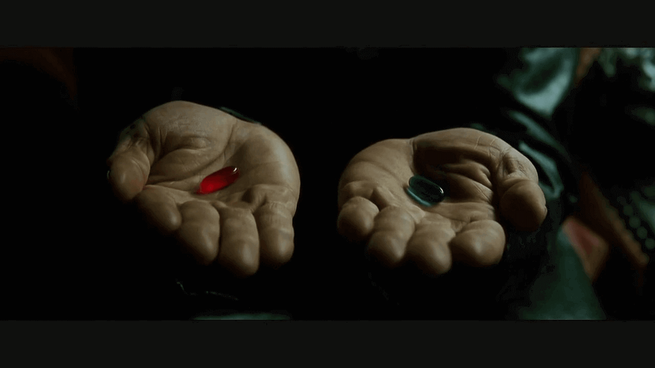 You can take the blue pill and continue to believe that Kanban is just those stickies on the whiteboard. Alternatively, you can take the red pill and follow the white rabbit in the Kanban chasm (Kanbasm).