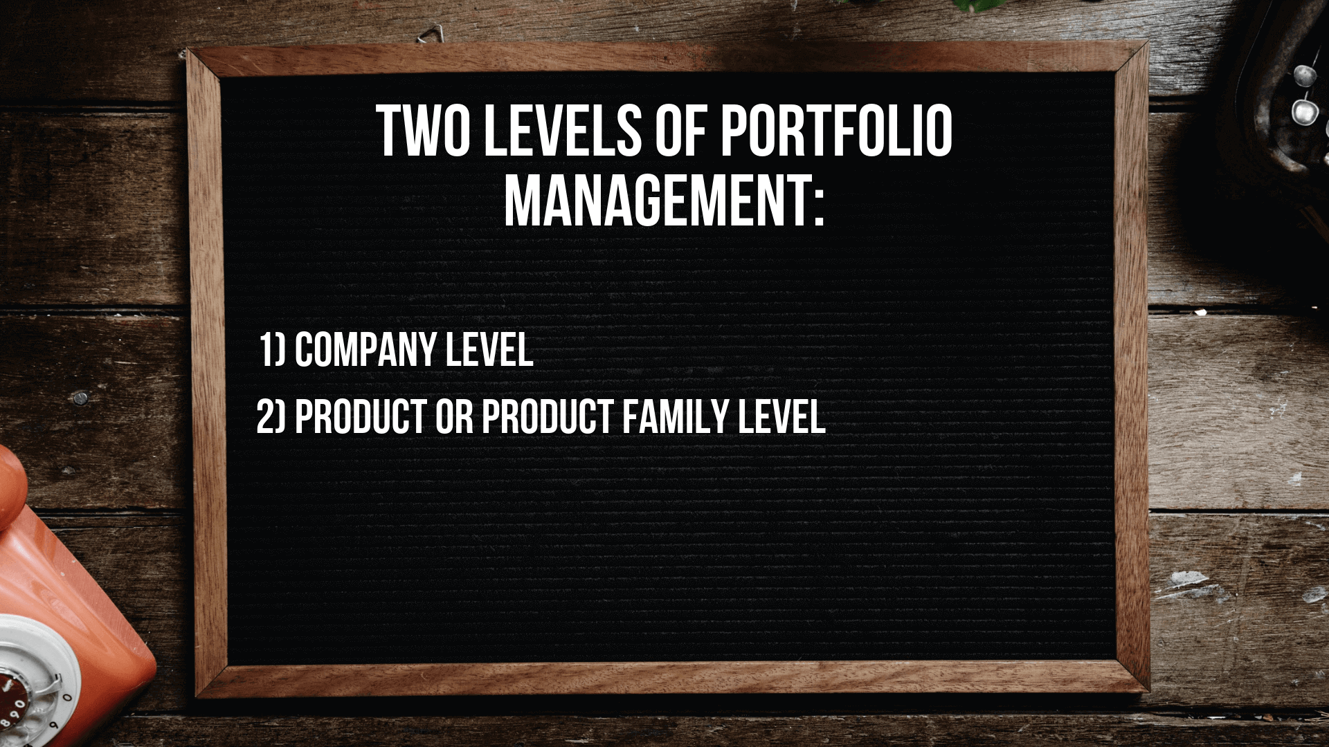 Two levels of portfolio management