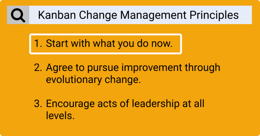 change management principles in kanban