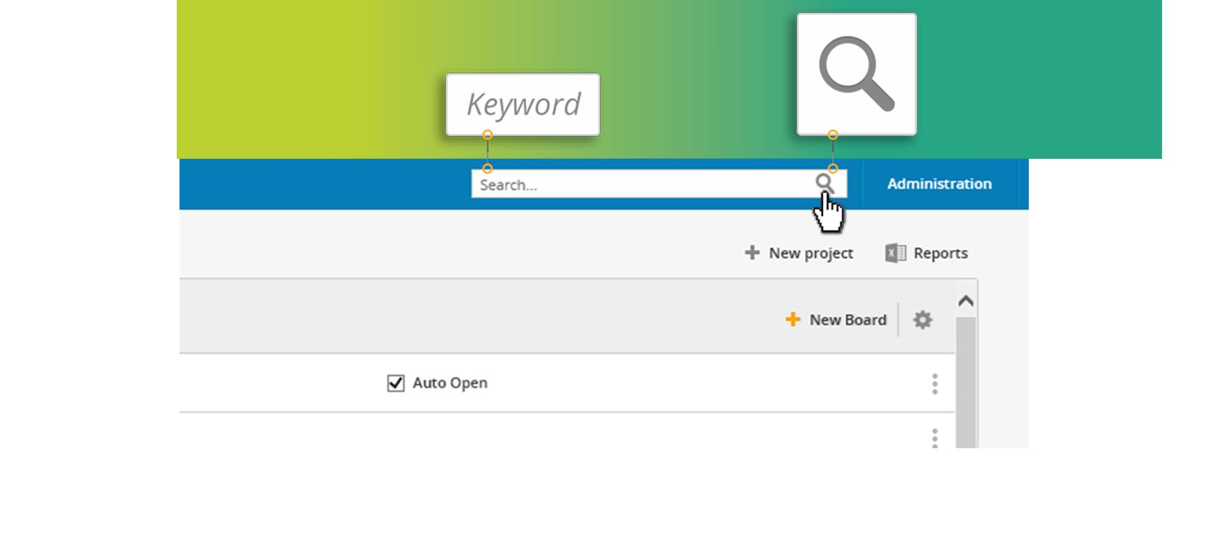Kanban keyword search