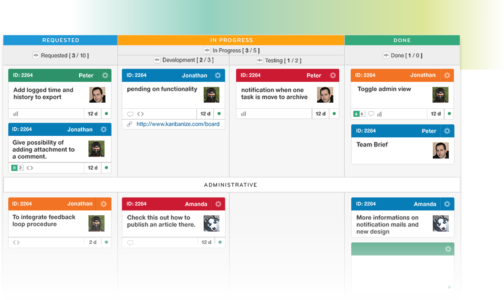 setting up Kanban boards