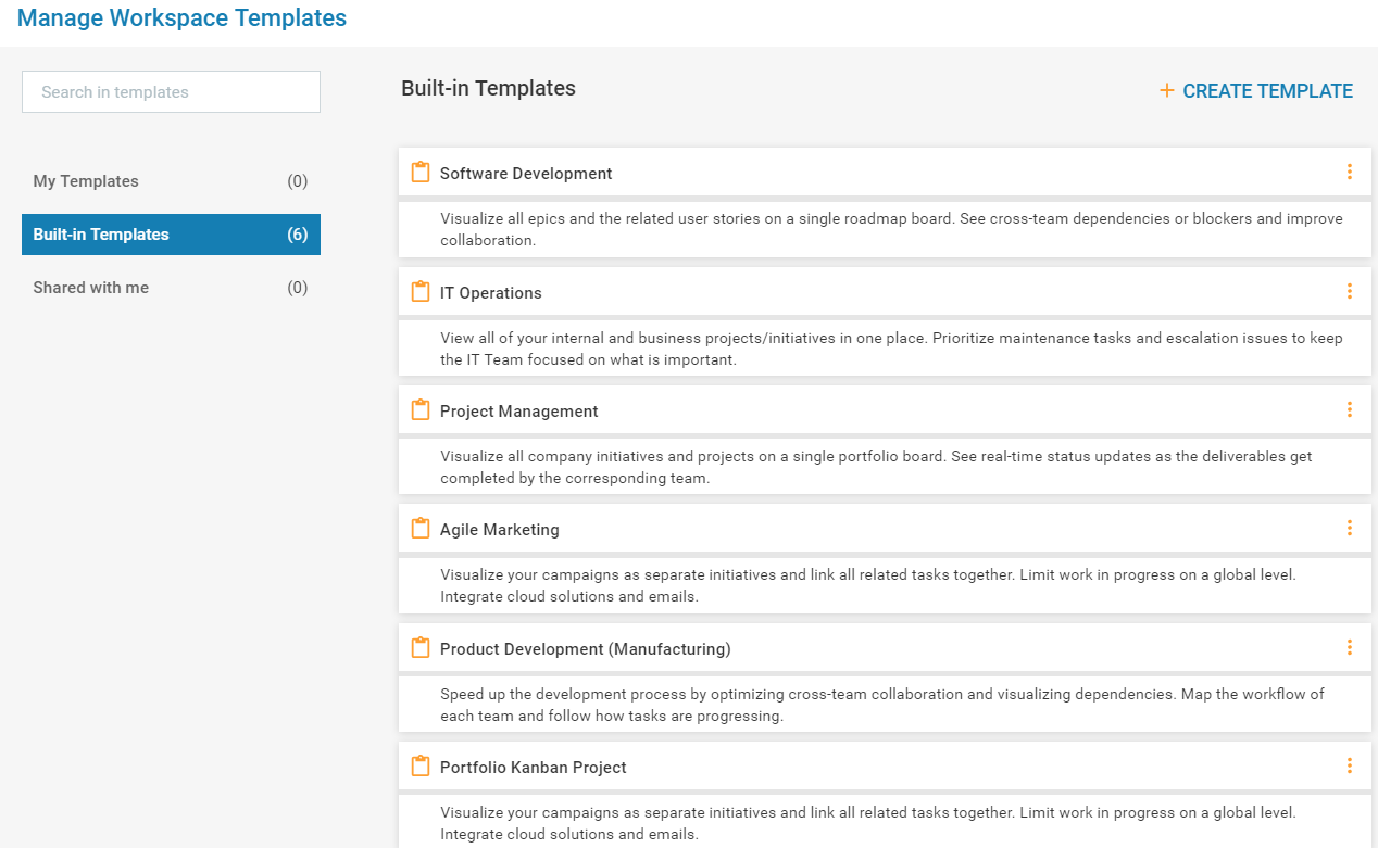 How to manage workspace templates kanbanize knowledge base for Access knowledge base template