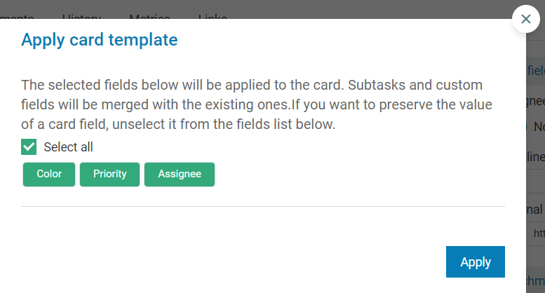 How To Create And Manage Card Templates Kanbanize Knowledge Base