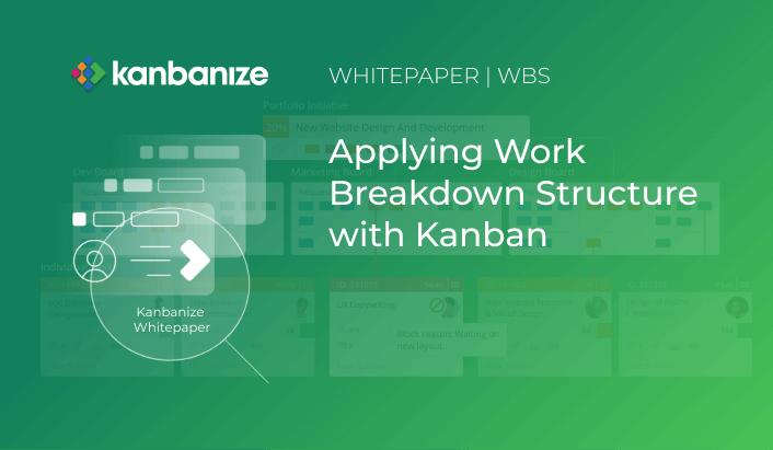 Kanban board WBS