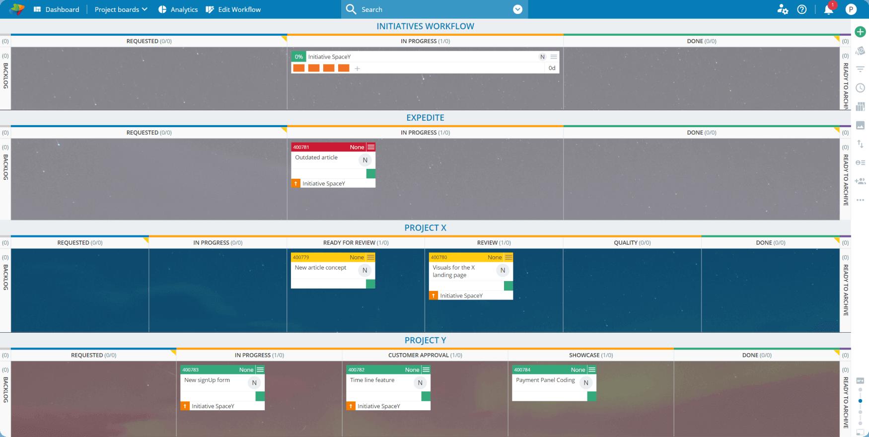 Multiple workflows on a single board
